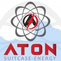 Logo ATON, GENERADOR SOLAR PORTÁTIL ECOLÓGICO